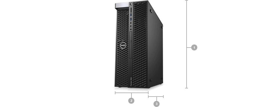 Dell Precision 7820 Boyut ve Aðýrlýk