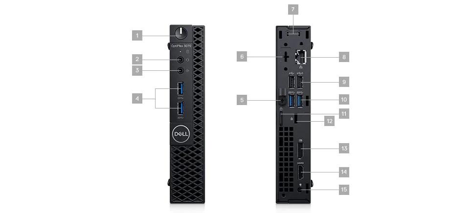 Dell Optiplex 3070MFF Baðlantý Noktalarý