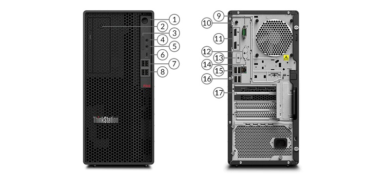 ThinkStation P340 Tower Portlar