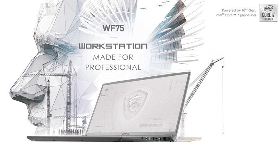 MSI WF75 10.Nesil Ýþlemci