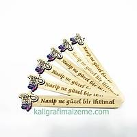 Ahþap Ayraç 10'lu Paket Yazýlý - Nasip