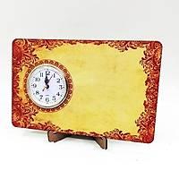 Masaüstü Saat Yatay Baskýlý Model 6
