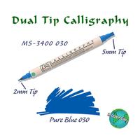 Zig Calligraphy Çift Uçlu Kaligrafi Kalemi 2 mm + 5 mm 030 Blue