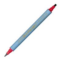 Zig Kaligrafi Kalemi Çift Uçlu 2mm + 3.5mm Kýrmýzý