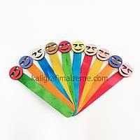 Ahþap Ayraç 10'lu Paket Renkli - Emoji