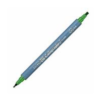Zig Kaligrafi Kalemi Çift Uçlu 2mm + 3.5mm Yeþil