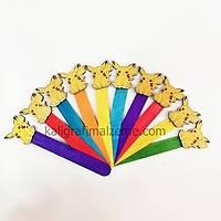 Ahþap Ayraç 10'lu Paket Renkli - Pikachu