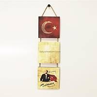 3'lü Panolar - Bayrak ~ Atatürk