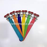 Ahþap Ayraç 10'lu Paket Renkli - Çoklu Kalpli Balon