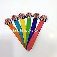 Ahþap Ayraç 10'lu Paket Renkli - Pembe Bacýlar