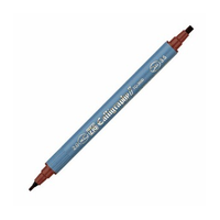 Zig Kaligrafi Kalemi Çift Uçlu 2mm + 3.5mm Kahverengi