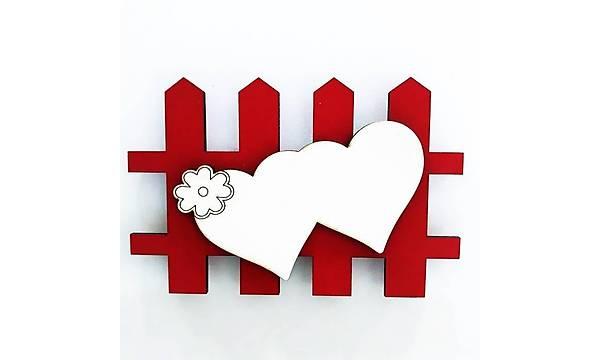 Ahþap Magnet Çit 10'lu Paket - Kýrmýzý