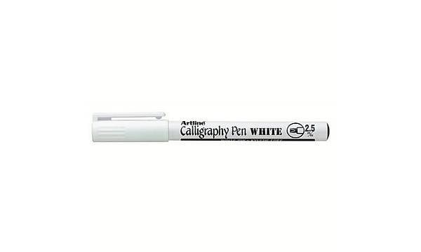 Artline Beyaz Kaligrafi Kalemi 2.5 mm
