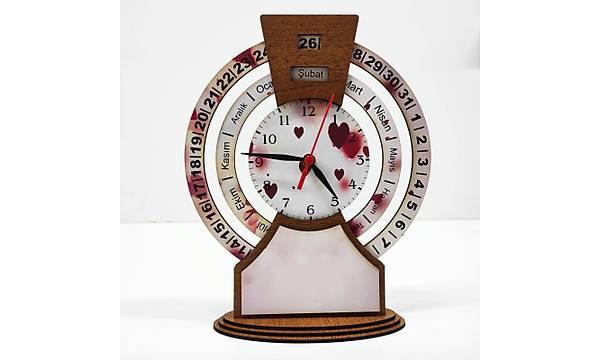 Takvimli Saat - Kalpli