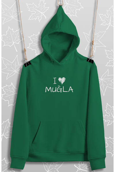 I Love Muðla(Üniseks Kapüþonlu)