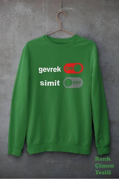 Gevrek On Simit Off (Üniseks Kapüþonsuz)