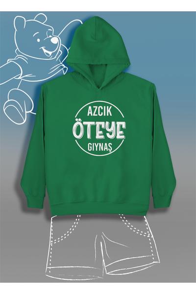 Azcýk Öteye Gýynaþ  (Üniseks Çocuk Kapüþonlu)