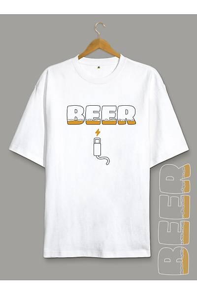 Beer Sarj (Üniseks Oversize Tiþört)
