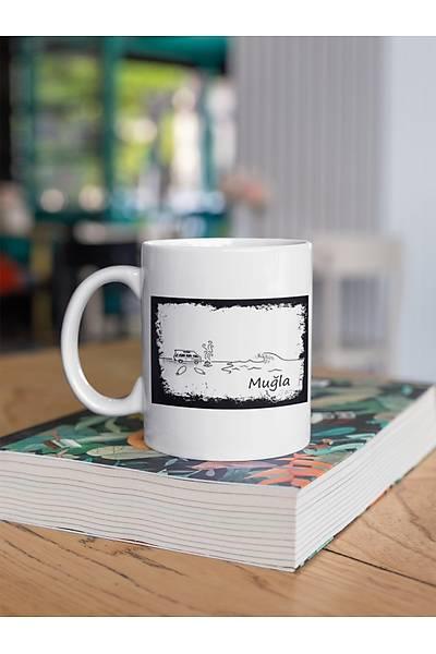 Muðla Vektörel Çizim(Porselen Kupa)