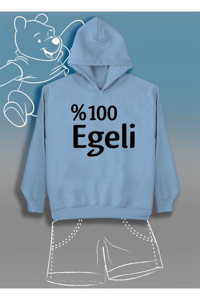 %100 Egeli  (Üniseks Çocuk Kapüþonlu)