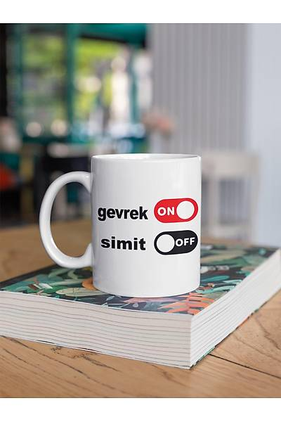 Gevrek ON Simit OFF (Porselen Kupa)