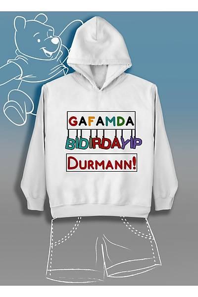 Gafamda Býdýrdayýp Durman Renkli (Üniseks Çocuk Kapüþonlu)