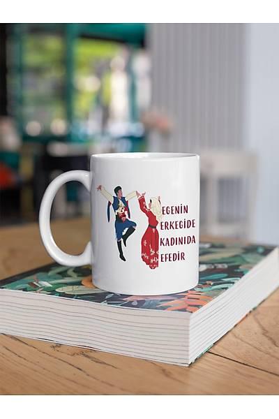 Ege'nin Erkeðide Kadýný da Efedir(Porselen Kupa)