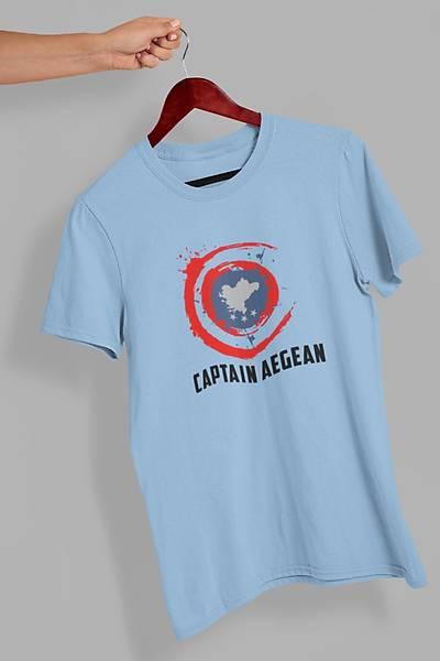 Captain Aegean(Üniseks Tiþört)