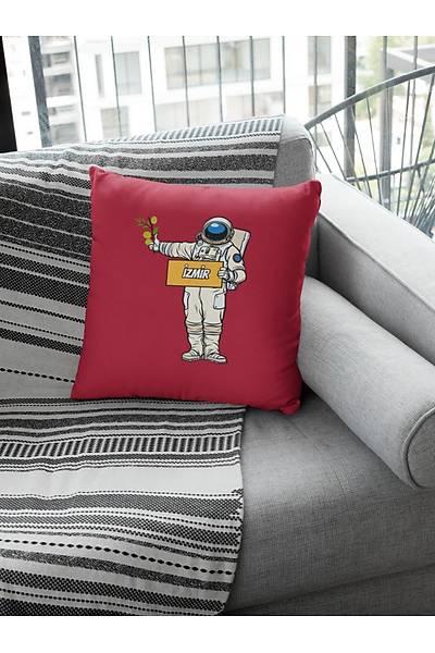Otostopçu Astronot Ýzmir (Kare Yastýk)