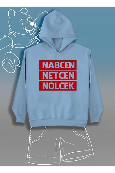 Nabcen Netcen Nolcek    (Üniseks Çocuk Kapüþonlu)