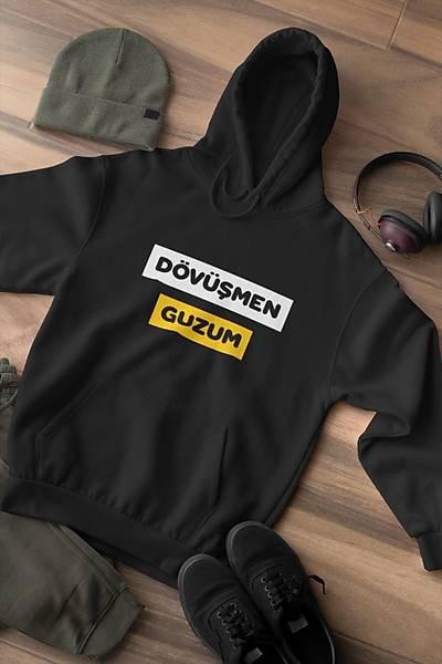 Dövüþmen Guzum(Üniseks Kapüþonlu)