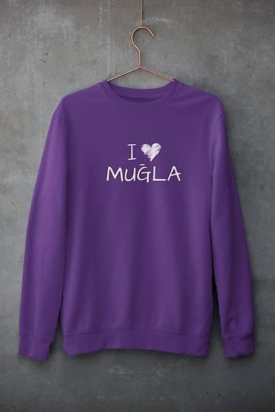 I Love Muðla (Üniseks Kapüþonsuz)