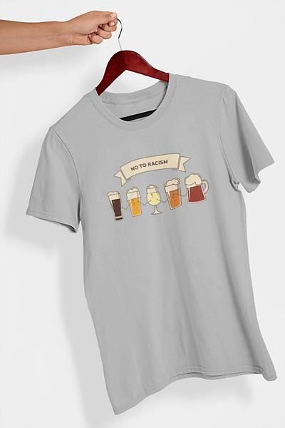 No To Racism (Üniseks Tiþört) alkol