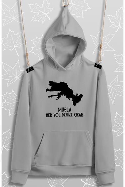 Muðla Her Yol Denize Çýkar(Üniseks Kapüþonlu)