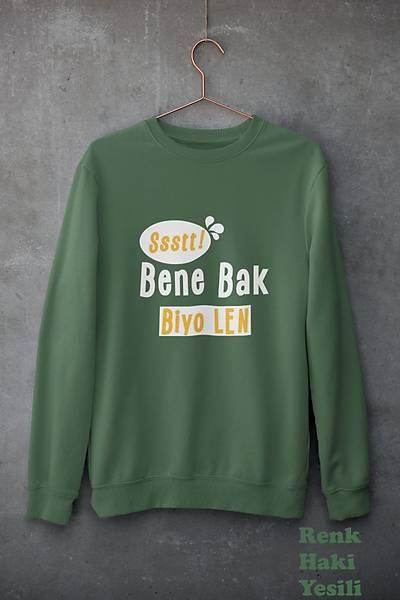 Ssst Bene Bak Biyo Len!(Üniseks Kapüþonlu)