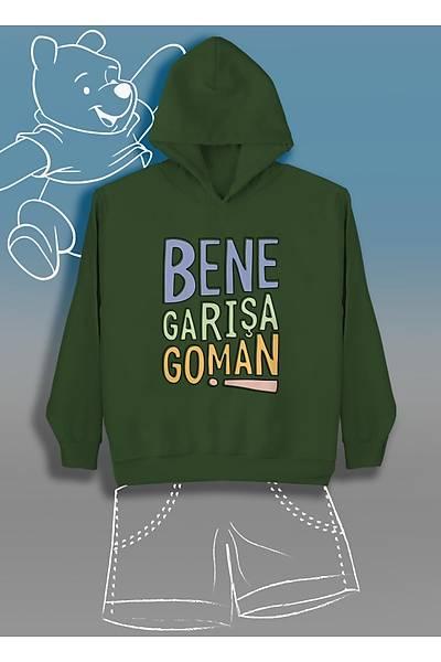 Bene Garýþa Goman  (Üniseks Çocuk Kapüþonlu)