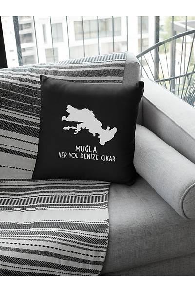 Muðla Her Yol Denize Çýkar (Kare Yastýk)