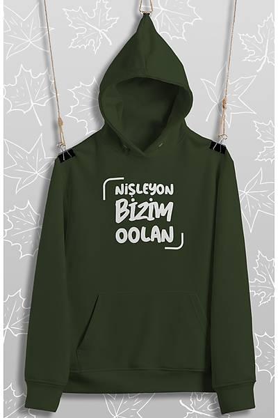 Niþleyon Bizim Oolan(Üniseks Kapüþonlu)
