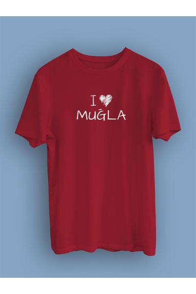 I Love Muðla (Üniseks Tiþört)
