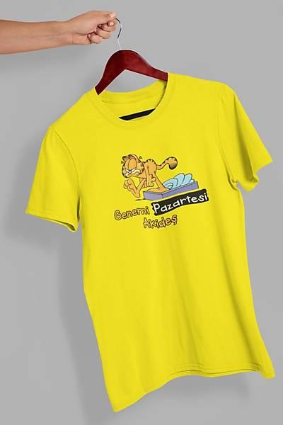 Garfield Genemi Pazartesi Akideþ(Üniseks Tiþört)