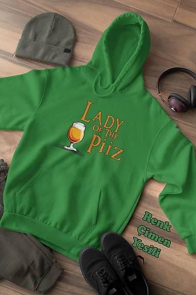 Lady Of Piiz (Üniseks Kapüþonlu)