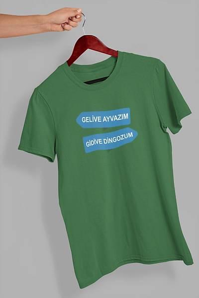 Gelive Ayvazým Gidive Dingozum (Üniseks Tiþört)