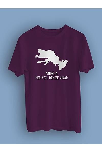 Muðla Her Yol Denize Çýkar (Üniseks Tiþört)