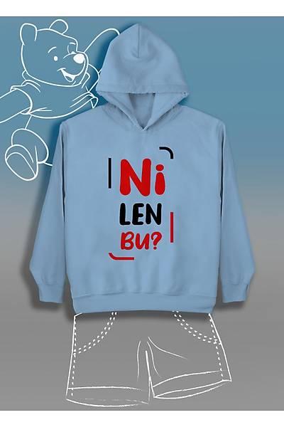 Ni Len Bu (Üniseks Çocuk Kapüþonlu)