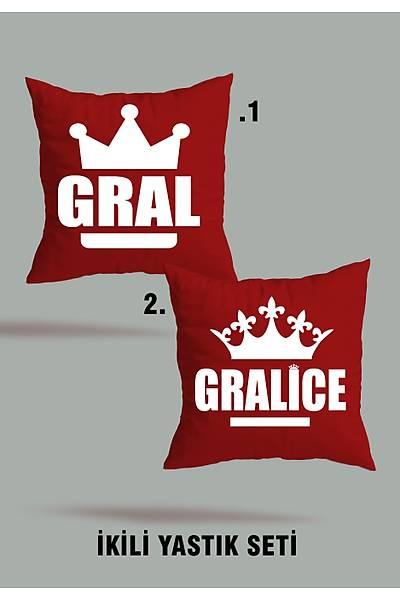Gral Gralice (2 li Kare Yastýk Seti)