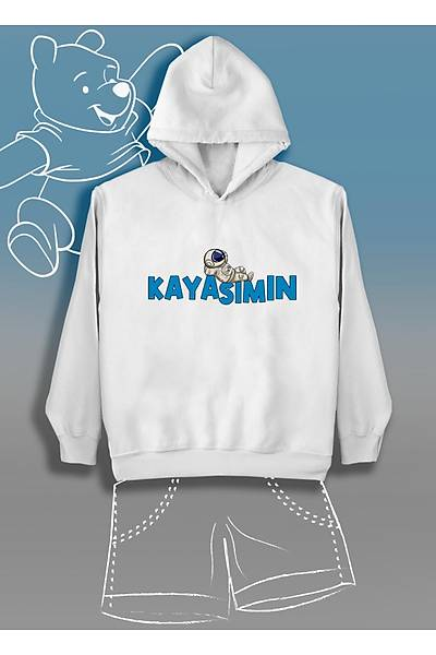 Kayasýmýn Astronot (Üniseks Çocuk Kapüþonlu)
