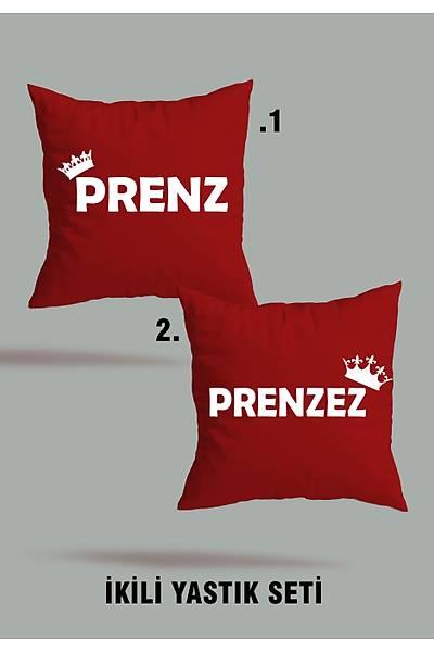 Prenz Prenzez (2 li Kare Yastýk Seti)