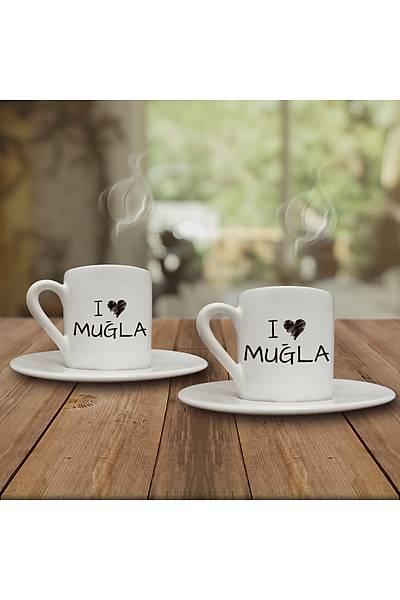 I Love Muðla (2li Kahve Fincaný Set)