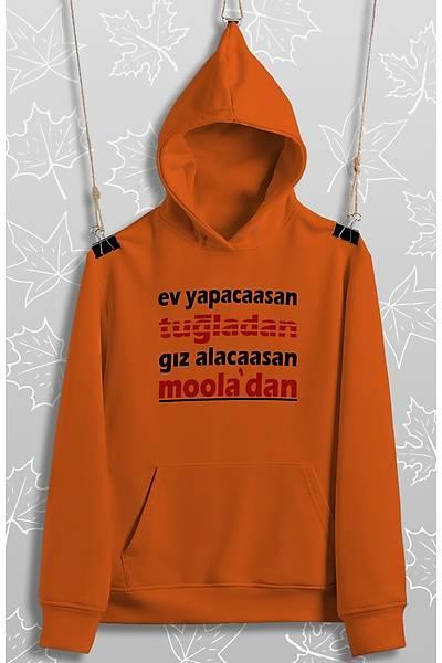 Ev Alcaasan Gýz Alacaasan Mooladan(Üniseks Kapüþonlu)