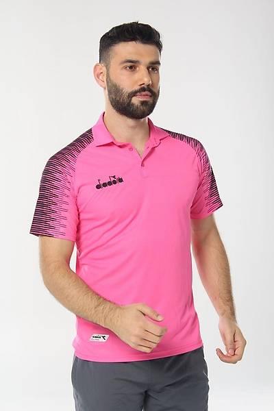 Diadora Ritim Kamp Polo T-Shirt Pembe